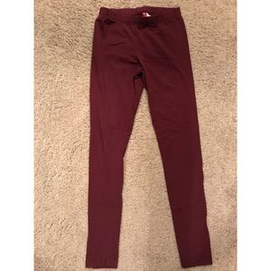 Maroon knit legging- size 8. From h&m