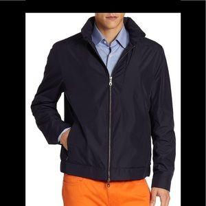 New- Saks Fifth Avenue men's black nylon jacket