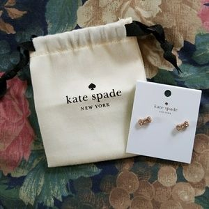 KATE SPADE Rose Gold Bow Earring