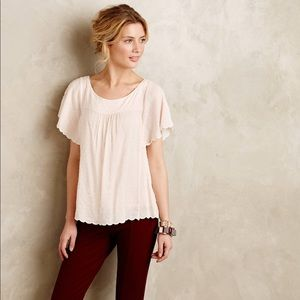 Anthropologie Maeve flutter sleeve top