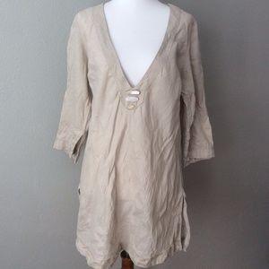 Soft Surroundings 100% Linen Tunic Top