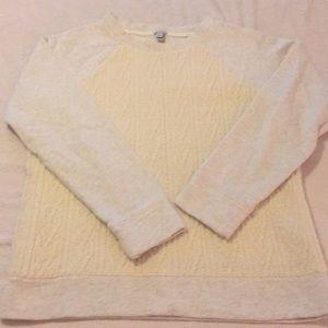 Cream J. Crew sweatshirt
