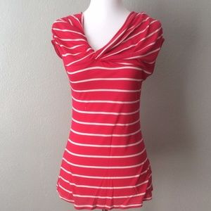Anthropologie Deletta Striped Front Twist Blouse