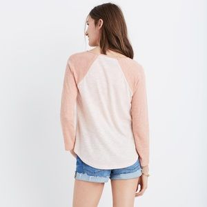 Madewell baseball tee in dusty rose and salmon