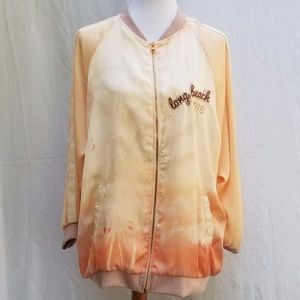 Zara W&B Collection Long Beach Bomber Jacket
