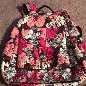 Vera Bradley small book bag in Mocha Rouge