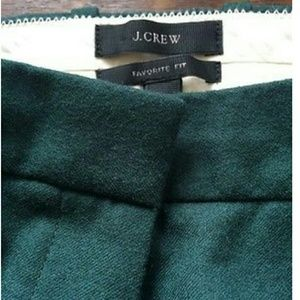 J.Crew Wool Green Slacks