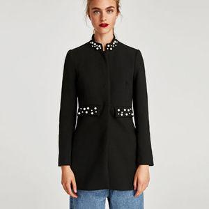 Zara Faux Pearl Coat