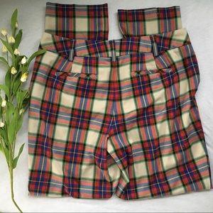 Lands End Plaid Pants Size 8