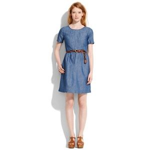 Madewell songbird dress in chambray