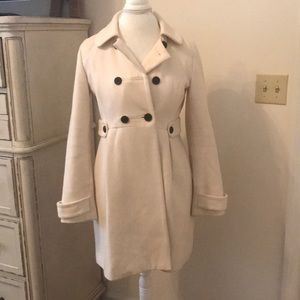 Old navy ivory wool coat