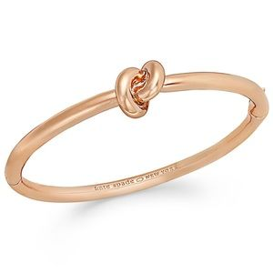 Rose gold love knot