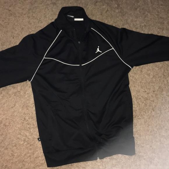 2a6274f7203 Jordan Jackets & Coats   Black Zip Up Jacket   Poshmark
