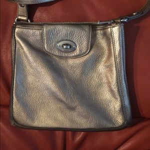 Fossil Gold toned leather purse