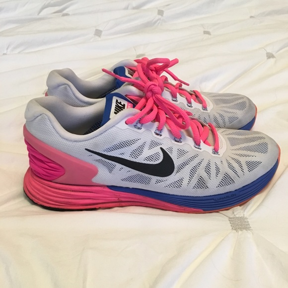 official photos 94541 fcb33 NIKE LUNARGLIDE 6 SNEAKERS PINK WHITE BLUE ORANGE.  M 5a10476d4e95a3296801ab45