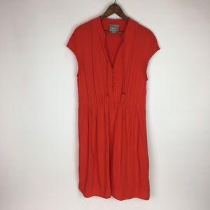 Anthropologie | Maeve Red V neck Dress