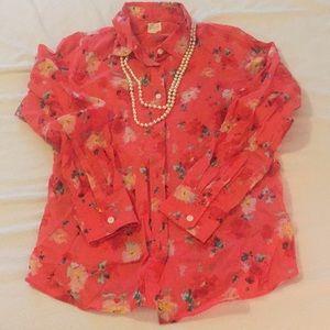 J. Crew Perfect Shirt Button Down