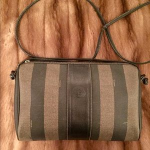 Vintage Penguin Stripe Fendi Crossbody Purse