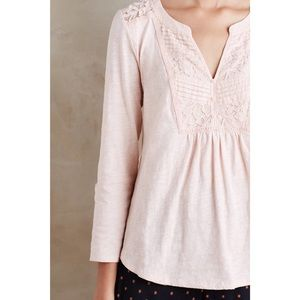 Anthropologie meadow rue light pink Henley top