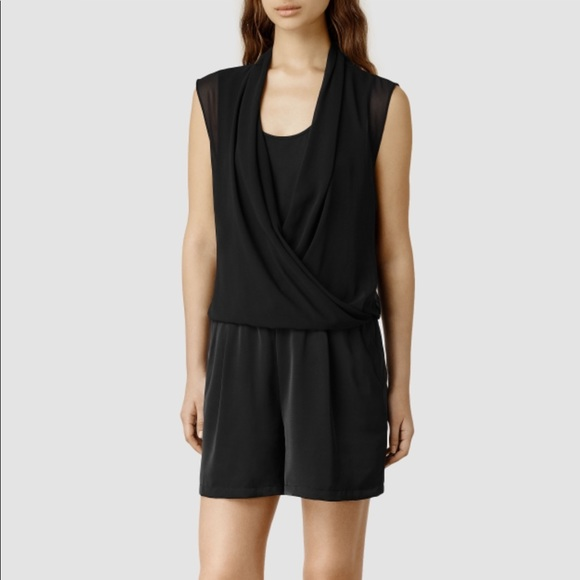 298b251b469 All Saints Amis Playsuit Romper in Black