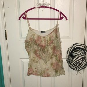 Floral lace see through cami tank top 🚨💋