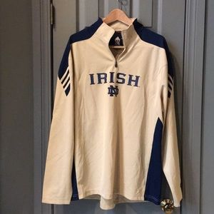 Notre Dame 1/4 zip Pullover