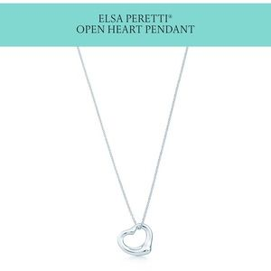 Tiffany and co open heart necklace