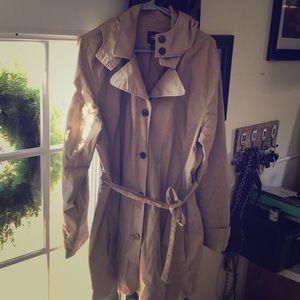 Plus Size Gap Trench Coat (Tan XXL)