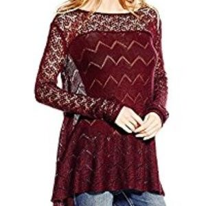Jessica Simpson Darlanne Sweater in Wine