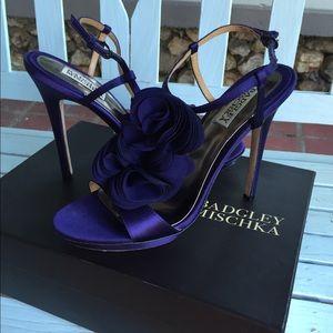 Badgley Mischka size 9 purple heel