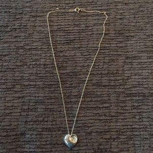 Tiffany puff heart necklace