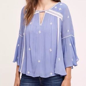 Anthropologie Floreat Boho Blouse