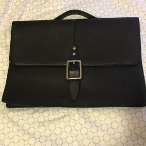 XMI Black leather briefcase