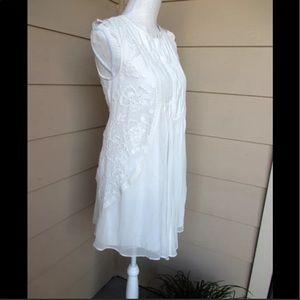 Anthropologie White Madrid Swing Dress-HD in Paris