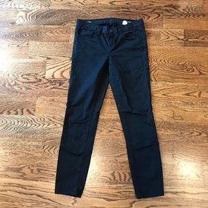 Jcrew black toothpick jeans
