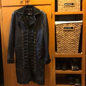Real Leather Women's Long Coat