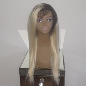 Blonde Brazilian Straight Wig with Lace Frontal