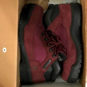 Burgundy Timberland Boots