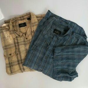 Redhead Men's Shirts 3XL set of 2 short sleeves