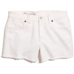 Madewell Creamy White Cut Off Denim Shorts