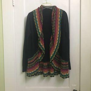 Boutique colorful crochet cardigan