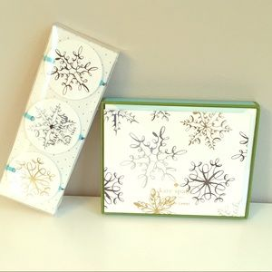 Kate Spade holiday snowflake cards and gift tags