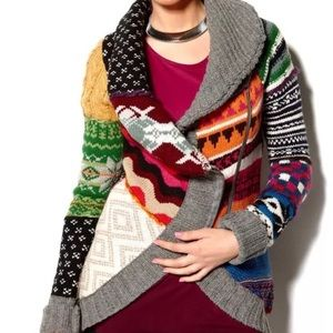 Desigual Lara rainbow cardigan sweater