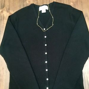 Casual Corner Black Sweater Cardigan