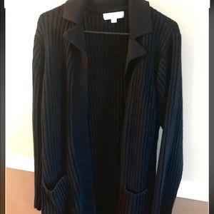 Carolyn Taylor heavy sweater coat sz large wore 2x