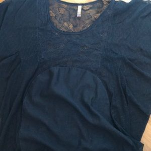 Free People sheer lace top