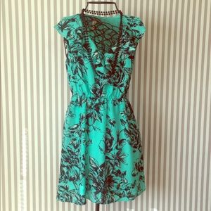 BCBGeneration Floral Print Ruffled Dress
