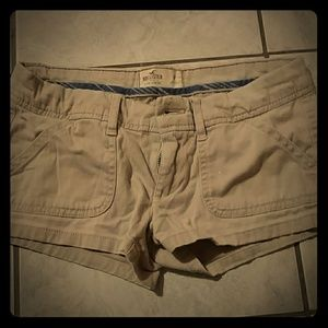 Hollister khaki shorts sz.  0