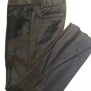 Black velvet wide leg slacks