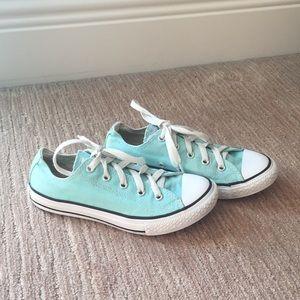 Girls Mint Green Low Top Converse